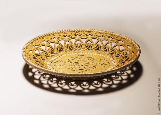 Тарелки ручной работы. Ярмарка Мастеров - ручная работа. Купить Тарелка резная из бересты. Тарелка деревянная. Handmade. Береста