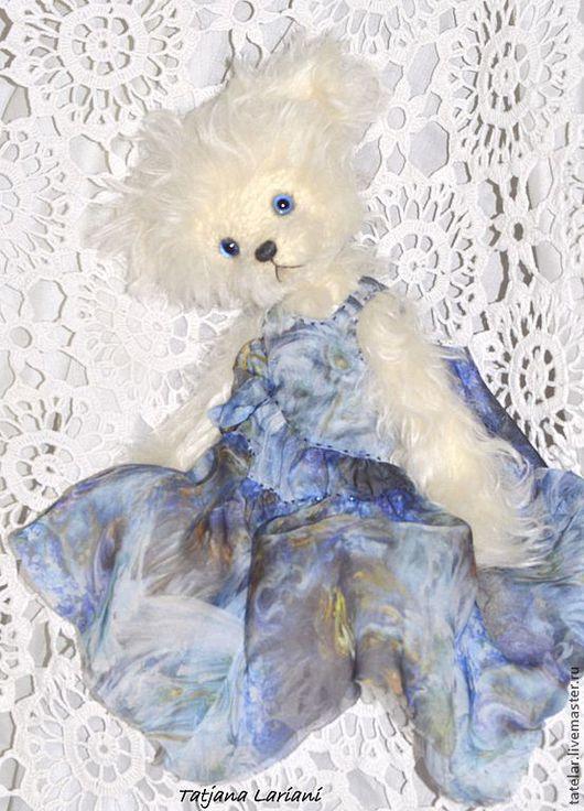 Мишки Тедди ручной работы. Ярмарка Мастеров - ручная работа. Купить Женевьев. Handmade. Белый, синий цвет