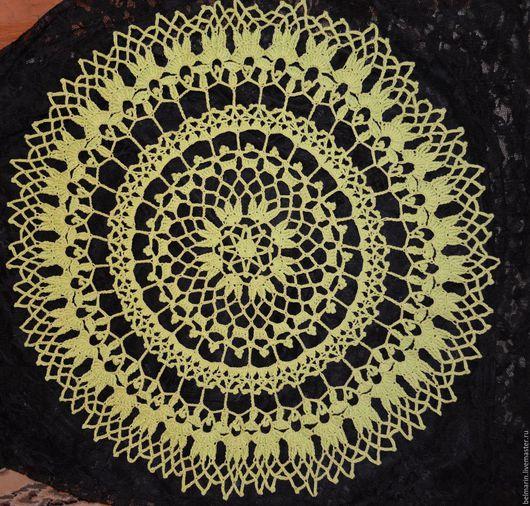 Текстиль, ковры ручной работы. Ярмарка Мастеров - ручная работа. Купить Весенняя салфетка. Handmade. Салатовый, украшение для интерьера