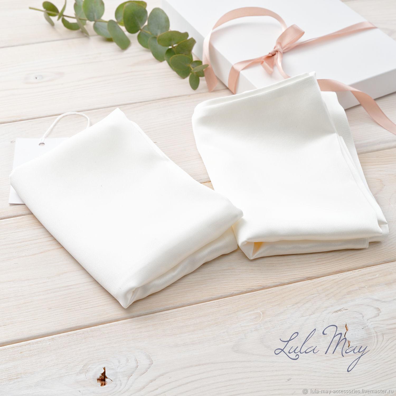 Комплект из двух шелковых наволочек белый, Наволочки, Балашиха,  Фото №1