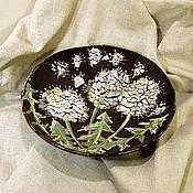 Посуда ручной работы. Ярмарка Мастеров - ручная работа Тарелка керамическая Одуванчик. Handmade.