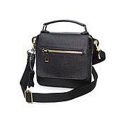 Сумки и аксессуары handmade. Livemaster - original item handy: Men`s leather bag black Casper Mod. C94-112. Handmade.