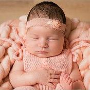 Работы для детей, ручной работы. Ярмарка Мастеров - ручная работа Повязочка для фотосессий новорожденных. Handmade.