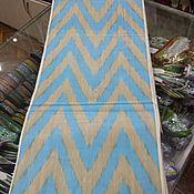 Материалы для творчества handmade. Livemaster - original item Uzbek cotton ikat hand weaving Chevron. FM156. Handmade.