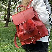 Сумки и аксессуары handmade. Livemaster - original item backpack women`s leather. Handmade.