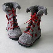 """Обувь ручной работы. Ярмарка Мастеров - ручная работа Сапожки валяные детские """" Цветочек"""". Handmade."""