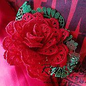 Брошь-булавка ручной работы. Ярмарка Мастеров - ручная работа Роза Андалусия. Handmade.