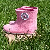 """Обувь ручной работы. Ярмарка Мастеров - ручная работа Валенки для дома """"Розовые"""". Handmade."""