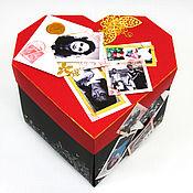 """Упаковочная коробка ручной работы. Ярмарка Мастеров - ручная работа Фотоальбом """"Сердце"""". Handmade."""
