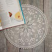 Для дома и интерьера ручной работы. Ярмарка Мастеров - ручная работа Салфетка крючком Пшеничка. Handmade.