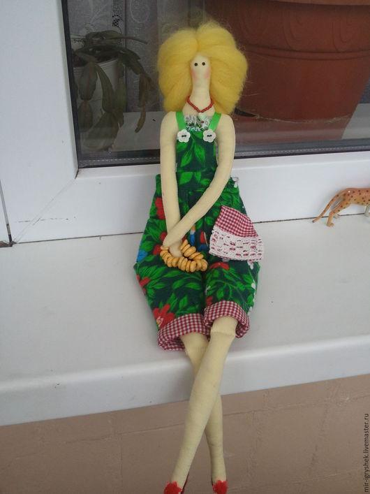 Куклы Тильды ручной работы. Ярмарка Мастеров - ручная работа. Купить Девушка с баранками. Handmade. Разноцветный, Баранки, солёное тесто
