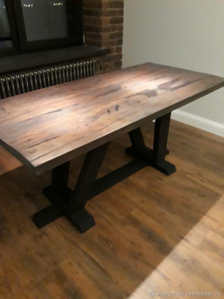 Мебель ручной работы. Ярмарка Мастеров - ручная работа. Купить Стол LOFT обеденный. Handmade. Масло, лофт стол