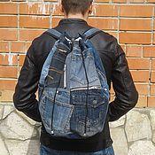 handmade. Livemaster - original item Backpack denim KhayfaII. Handmade.