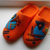 """Обувь ручной работы. Ярмарка Мастеров - ручная работа валяные тапочки """" Импровизация"""". Handmade."""