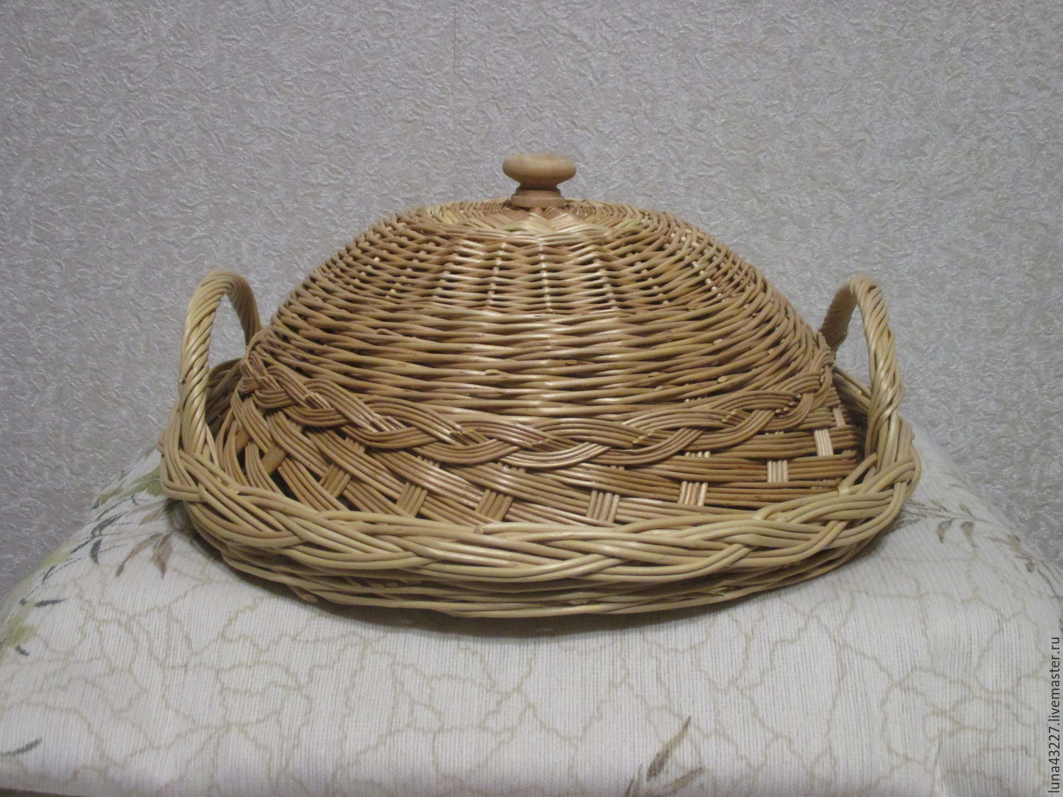 Tray with handles and a cover woven of twigs, Basket, Kirovo-Chepetsk,  Фото №1
