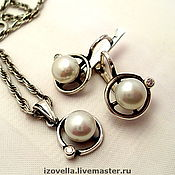 Украшения handmade. Livemaster - original item Kit - natural pearls, silver 925. Handmade.