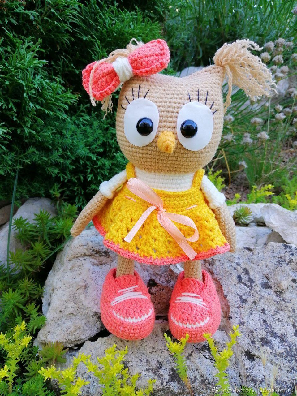 Совушка, игрушка сова, вязаная игрушка.Интерьерная игрушка, Мягкие игрушки, Одесса,  Фото №1