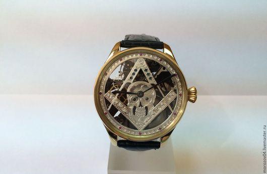Часы ручной работы. Ярмарка Мастеров - ручная работа. Купить Крупные наручные часы ручной работы, украшены натуральными камнями.. Handmade.
