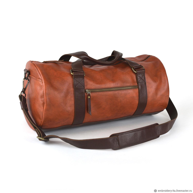 Сумка спортивная кожаная рыжая мод.035.2, Спортивная сумка, Одинцово,  Фото №1
