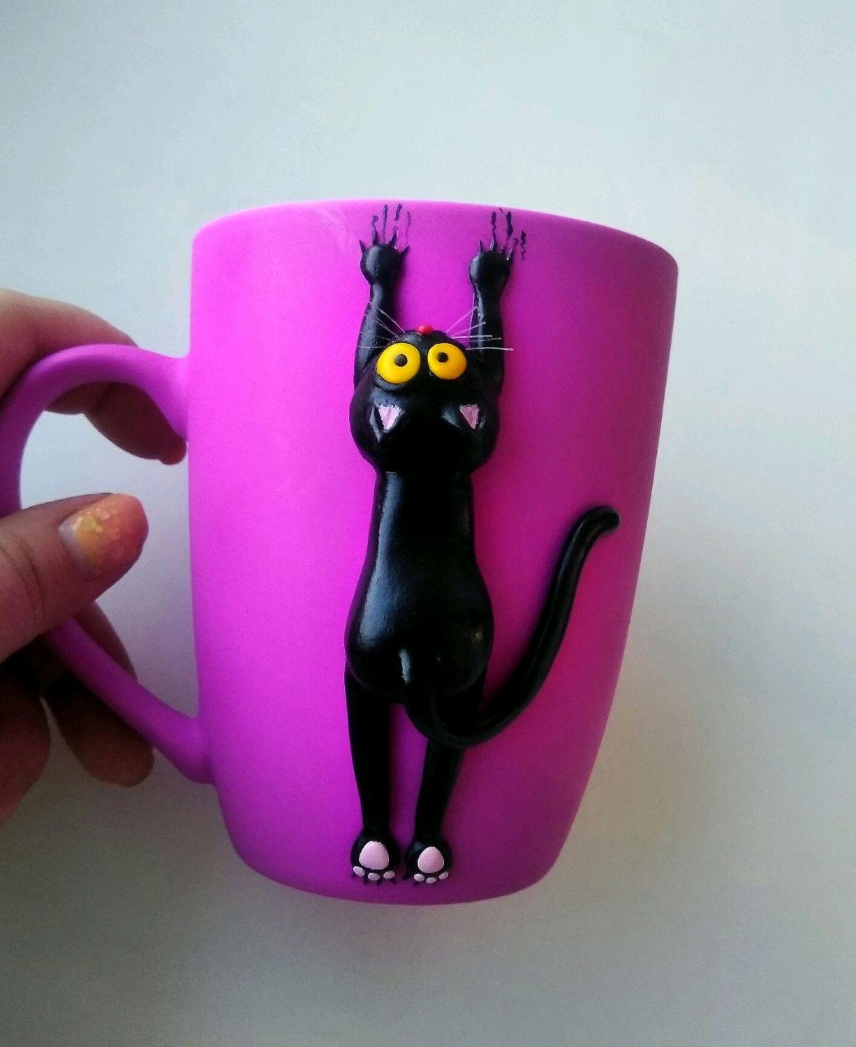 Кот на кружке, Кружки и чашки, Волжский,  Фото №1