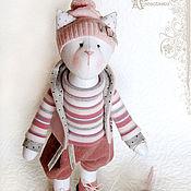 Куклы и игрушки ручной работы. Ярмарка Мастеров - ручная работа Кошка и мышка. Handmade.