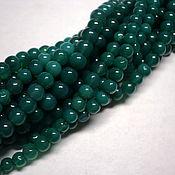 Зеленый оникс бусины 4 мм гладкий шар.