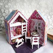 """Кукольные домики ручной работы. Ярмарка Мастеров - ручная работа Кукольный домик """"Детская комната"""". Handmade."""