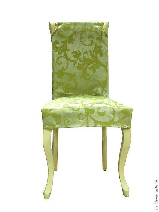 Мебель ручной работы. Ярмарка Мастеров - ручная работа. Купить Чехол на стул - Оливковый. Handmade. Оливковый, декор интерьера