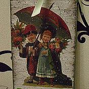 """Для дома и интерьера ручной работы. Ярмарка Мастеров - ручная работа Ключница """"Влюбленная парочка"""". Handmade."""