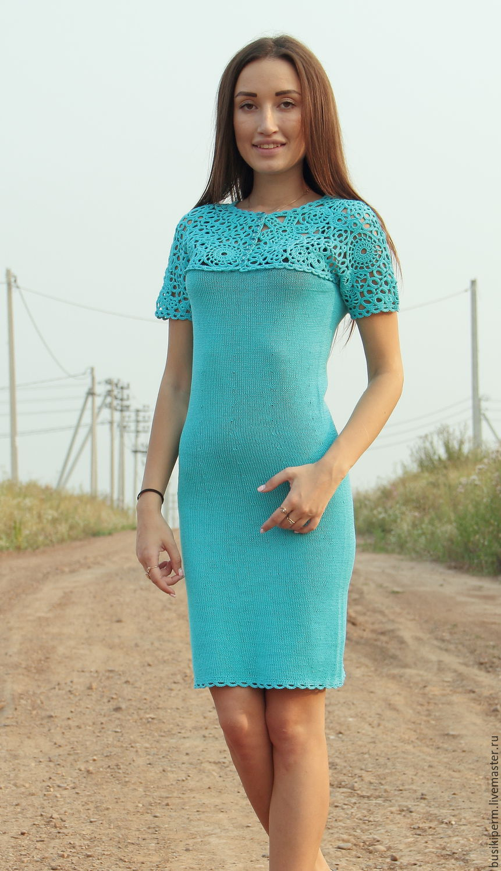 Бирюзовое платье доставка