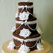 """Свадебный салон ручной работы. Ярмарка Мастеров - ручная работа Торт из полотенец  """"Шоколадное искушение"""". Handmade."""