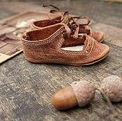 Куклы и игрушки ручной работы. Ярмарка Мастеров - ручная работа Дубочки туфельки для антикварной куклы или реплики. Handmade.