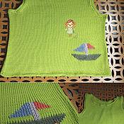 Работы для детей, handmade. Livemaster - original item T-shirt wave. Handmade.