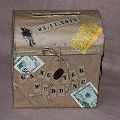Свадебный салон ручной работы. Ярмарка Мастеров - ручная работа Сундучок для денег Чикаго. Handmade.