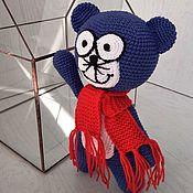 Куклы и игрушки handmade. Livemaster - original item Kot kotofey in the blue coat. Handmade.
