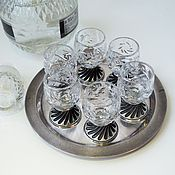 Shot Glasses handmade. Livemaster - original item Set of crystal wine glasses