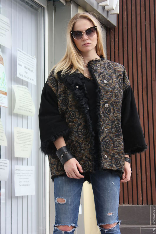 """Верхняя одежда ручной работы. Ярмарка Мастеров - ручная работа. Купить Куртка на меху """"Жакард"""". Handmade. Подарок девушке"""