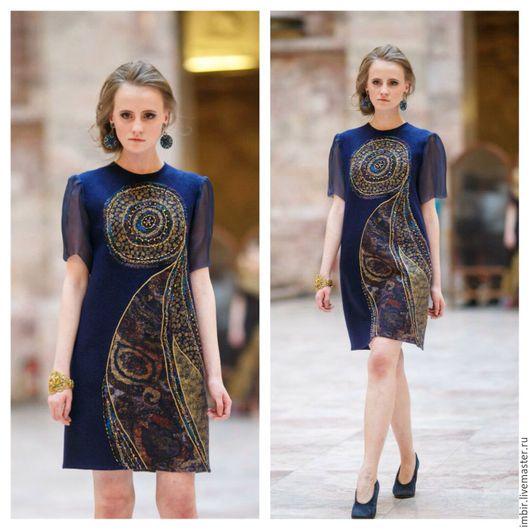 Платья ручной работы. Ярмарка Мастеров - ручная работа. Купить Платье Артефакт 4. Handmade. Тёмно-синий, нарядное платье