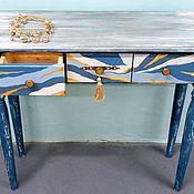 """Столы ручной работы. Ярмарка Мастеров - ручная работа Стол-консоль """"Река времени"""". Handmade."""