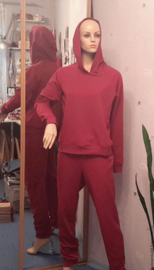 Спортивная одежда ручной работы. Ярмарка Мастеров - ручная работа. Купить Спортивный костюм. Handmade. Бордовый, свитшот