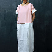 Одежда ручной работы. Ярмарка Мастеров - ручная работа Топ Розовый Кашемир. Handmade.