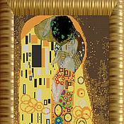 """Материалы для творчества ручной работы. Ярмарка Мастеров - ручная работа """"Поцелуй"""" (Г.Климт) Арт 9618  Набор для вышивания бисером. Handmade."""
