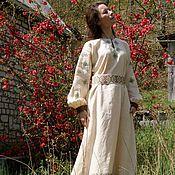 Одежда ручной работы. Ярмарка Мастеров - ручная работа Славянское платье из льна Зародыш мирового дерева. Handmade.