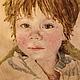 Люди, ручной работы. Ярмарка Мастеров - ручная работа. Купить портрет ребенка на заказ. Handmade. Розовый, портрет на заказ