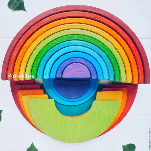 Развивающие игрушки ручной работы. Ярмарка Мастеров - ручная работа. Купить Классика.Крупная радуга 30 см и панели. Handmade.