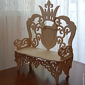 Материалы для творчества handmade. Livemaster - original item Doll couch-throne 886. Handmade.