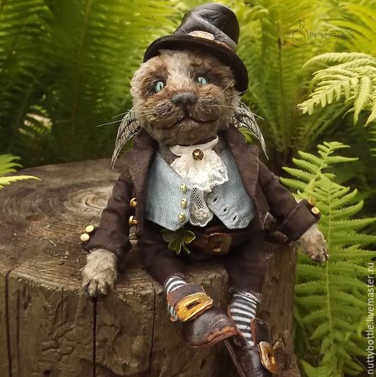 Мишки Тедди ручной работы. Ярмарка Мастеров - ручная работа. Купить Котик Бриан. Handmade. Кот, котенок, тедди, лепрекон