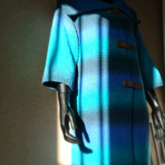 Верхняя одежда ручной работы. Ярмарка Мастеров - ручная работа. Купить морское настроение. Handmade. Пальто, шерсть 100%