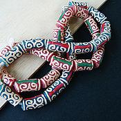 Материалы для творчества handmade. Livemaster - original item Beads KROBO Africa Ghana ornament Adinkra