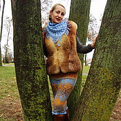 Одежда handmade. Livemaster - original item Jacquard skirt September. Handmade.